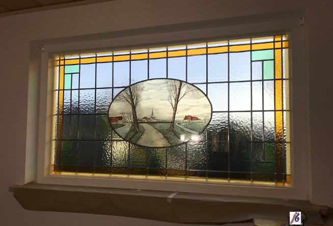 Binnen schilderwerk raamkozijn